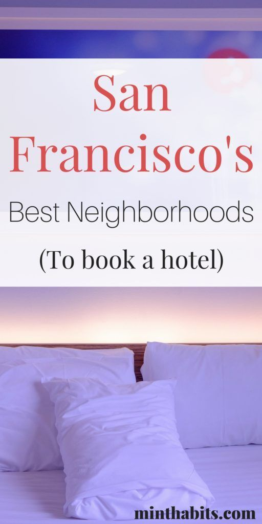 Make sure you stay in a great neighborhood in San Francisco! Here's my list of the best places to stay in San Fran, and my hotel recommendations in these areas. Click here to see.
