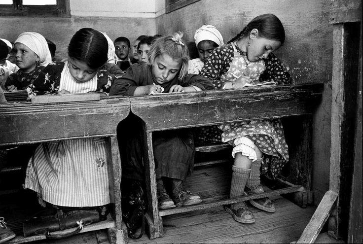 Constantine Manos: A village school, Olimbos, Karpathos, Greece,1964