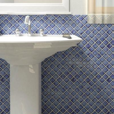 Merola Tile Hudson Tangier Sapphire 12 3 8 In X 12 1 2 In