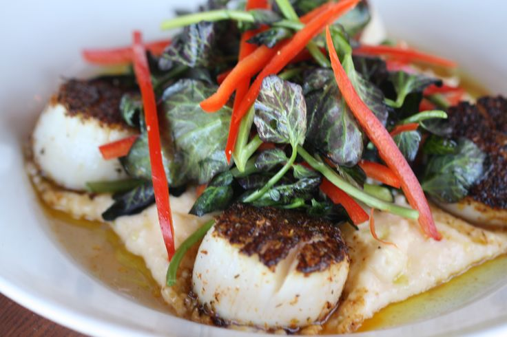 Paleo Sauteed Scallops with Watercress and Corn Salad