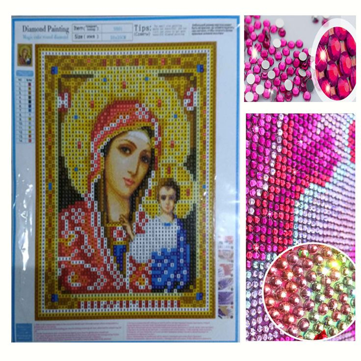 BUY now 4 XMAS n NY. New Year Gift DIY 5D Diamond Embroidery Religion Icons Crystal Round Diamond Painting Religious Portrait Cross Stitch Needlework * Find out more on  AliExpress.com. Just click the VISIT button.