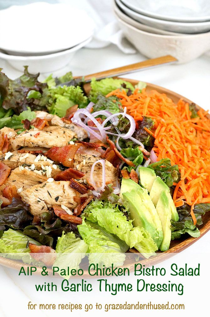 Bistro Chicken Salad AIP Paleo Whole30 grazedandenthused.com
