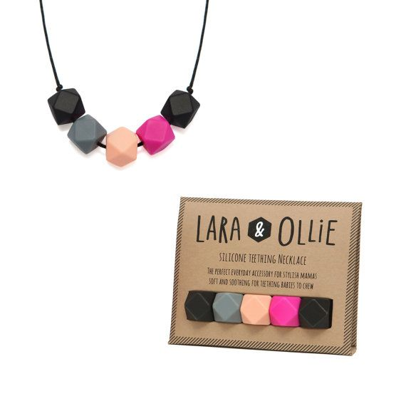 Silicone Teething Necklace AVA by LARAandOLLIE on Etsy