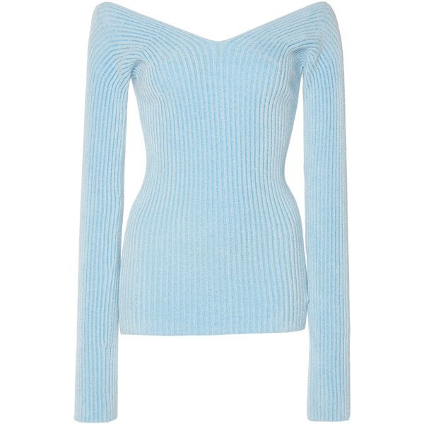 Cold Shoulder Sweater | Moda Operandi ❤ liked on Polyvore featuring tops, sweaters, blue sweater, open shoulder tops, cut-out shoulder sweaters, blue cold shoulder top and open shoulder sweater