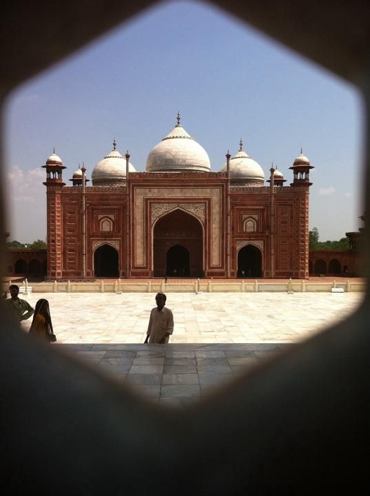 Agra, India - on the grounds of the Taj Mahal