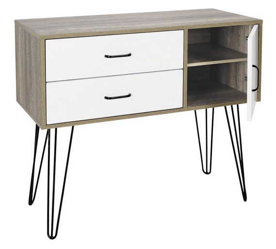 Buy Hygena Ivy 2 Drawer Small Sideboard on Wire Legs at Argos.co.uk - Your Online Shop for Coffee tables, sideboards and display units, Clearance Home and garden, Home and garden.