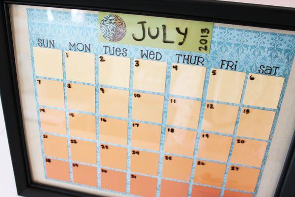 Diy Ombre Calendar : The best paint chip calendar ideas on pinterest