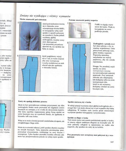 pattern adjustment pants