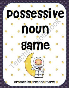 Possessive Nouns Game    This is a fun and creative game for students to practice singular and plural possessive nouns. The game is three players and is great for a center or a reinforcement activity.    Player 1- Toss the coin. Tails- Write a singular noun. Heads- write a plural noun. Write the nouns and possessive form of the noun.  Player 2- add a noun that is owned.  Player 3- write a complete sentence using the phrase.  $3.00