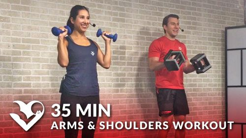 35 Minute Arms and Shoulder Workout at Home
