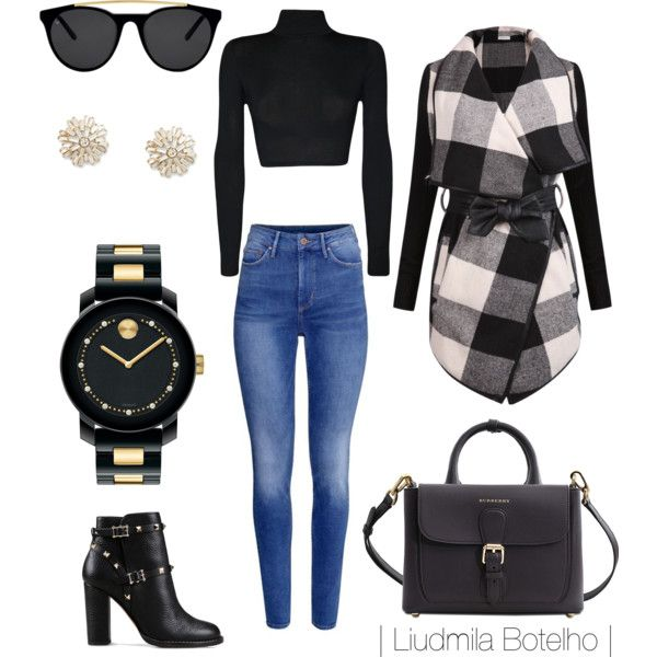 A fashion look from November 2015 featuring WearAll tops, H&M jeans and Valentino ankle booties. Browse and shop related looks.