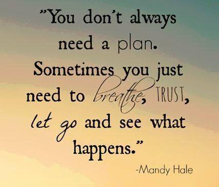 Blijf ademen, heb vertrouwen en laat los