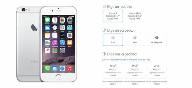 Con la salida del iPhone 6 y 6 Plus, los usuarios nos vimos abocados a elegir entre los 16 gigas, que sabíamos que no eran suficientes, o subir 100 euros para llegar a 64 gigas, ya que los 32 GB los ha eliminado.