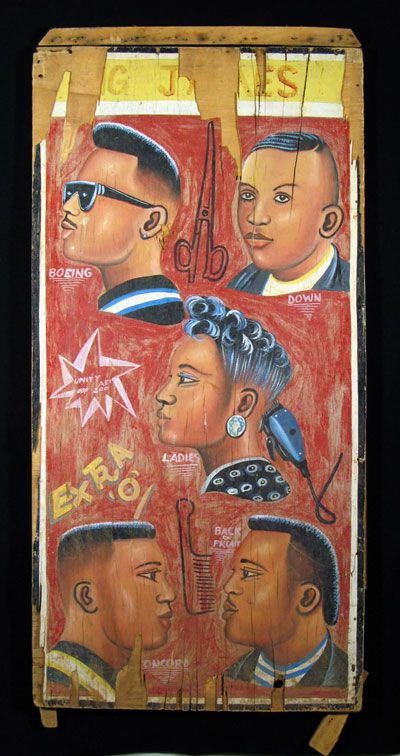 African (Ghana) barber sign - Indigo art gallery