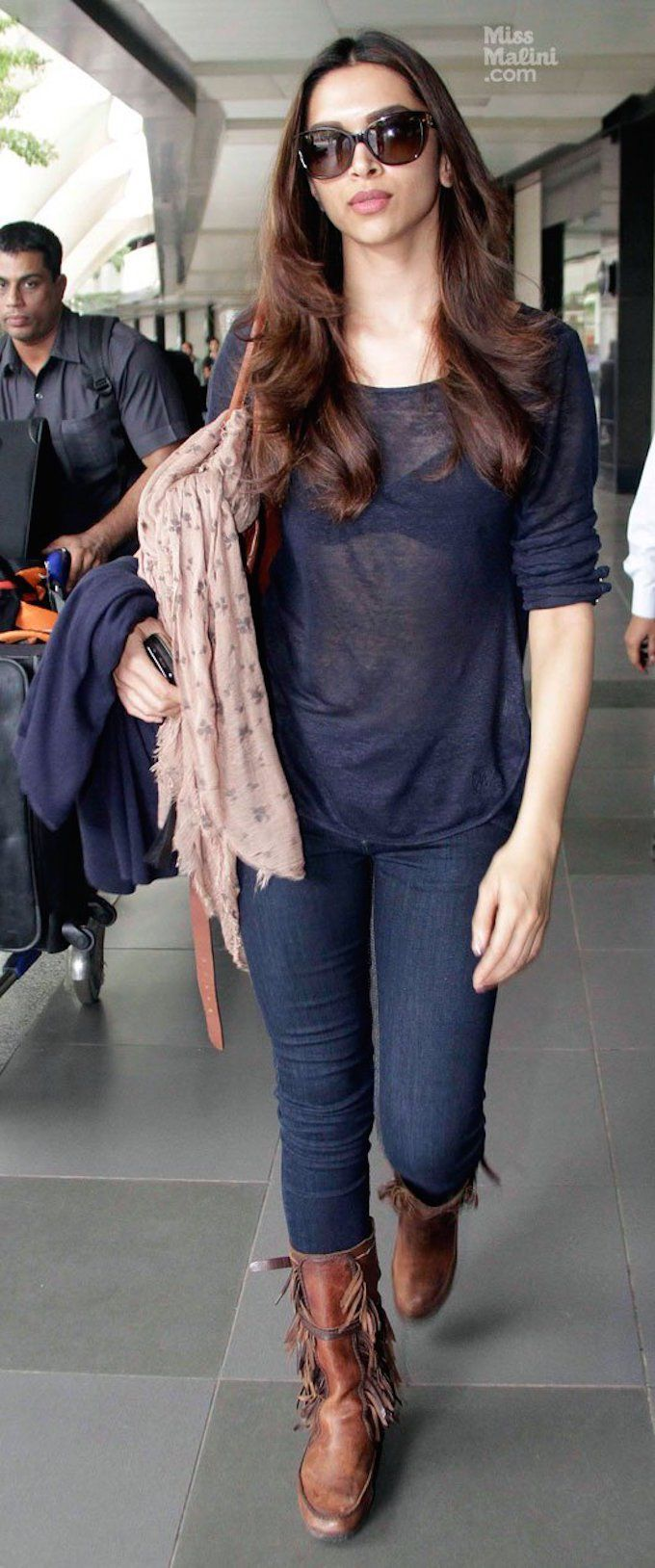 Deepika Padukone casual chic style at the airport