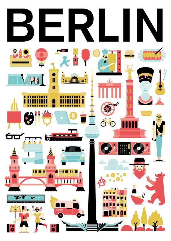 Attila Szamosi | Berlin, City Poster Contest http://www.humanempireshop.com/citypostercontest/