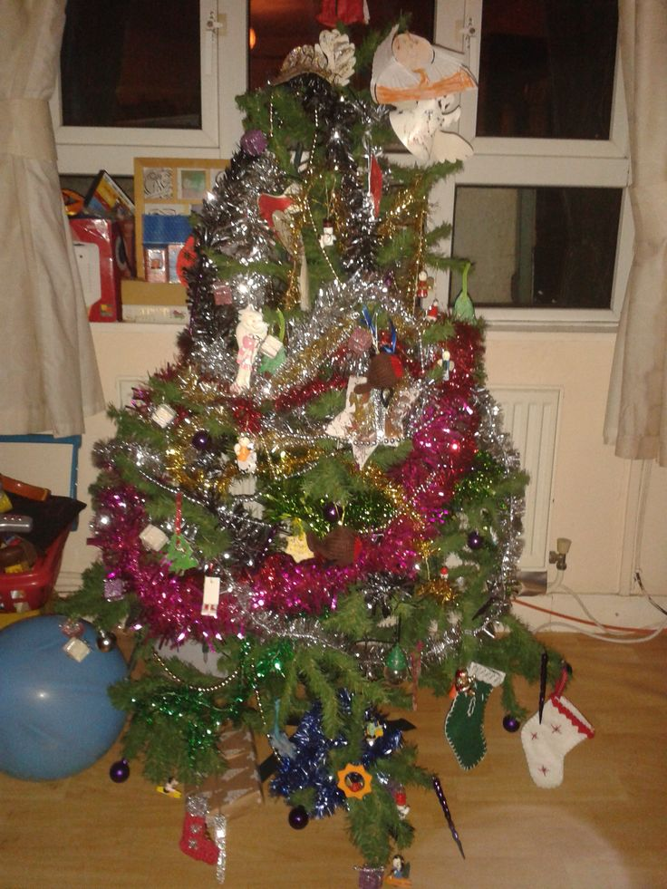 No uniformity to our tree - just decorated by all the family with laughter and love #CKCrackingChristmas