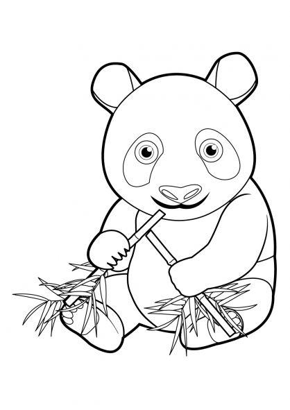 Les 25 meilleures id es de la cat gorie coloriage panda - Coloriage panda ...