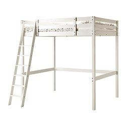 STORÅ Loft bed frame - white stain - IKEA I bet this would be easy enough to make, but w/ IKEA, it's not too expensive, either