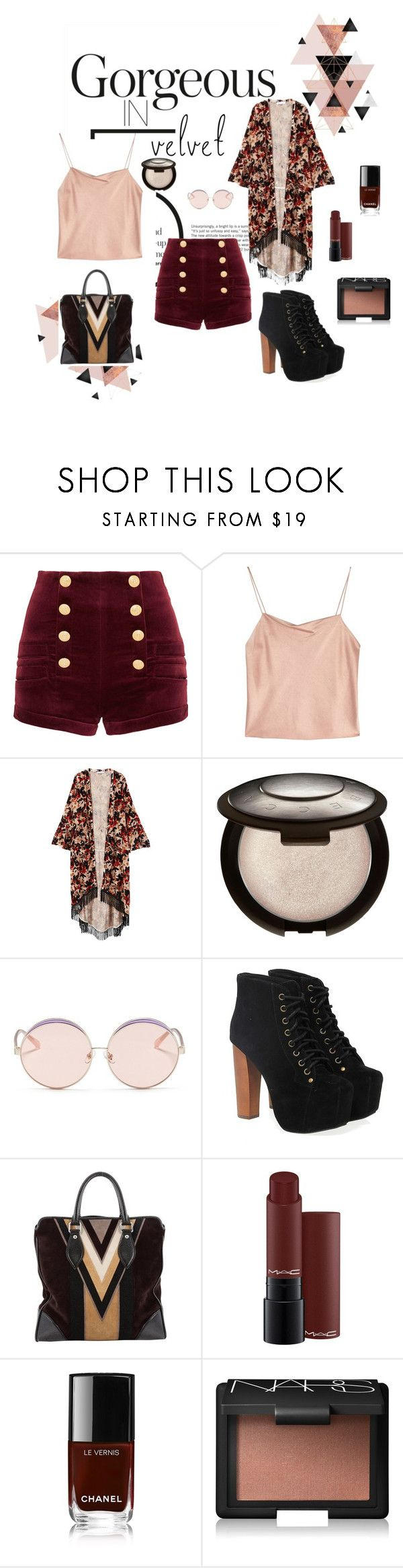 faded love by faerriedust on Polyvore featuring MANGO, Alice + Olivia, Pierre Balmain, Jeffrey Campbell, Louis Vuitton, N°21, NARS Cosmetics, MAC Cosmetics, contest and crushingonvelvet