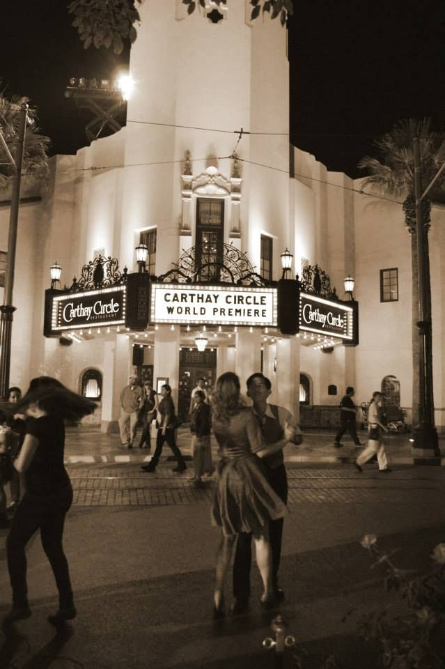 Swing dancing #carthaycircle #vintage #2013 #1940 #disneyland #california adventure #disneyswing #fashion #sephia #blackandwhite #vintagephotography