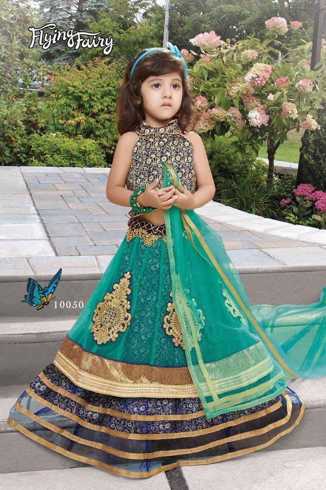 Indian Kids Girls Lehenga Pakistani Designer Bollywood