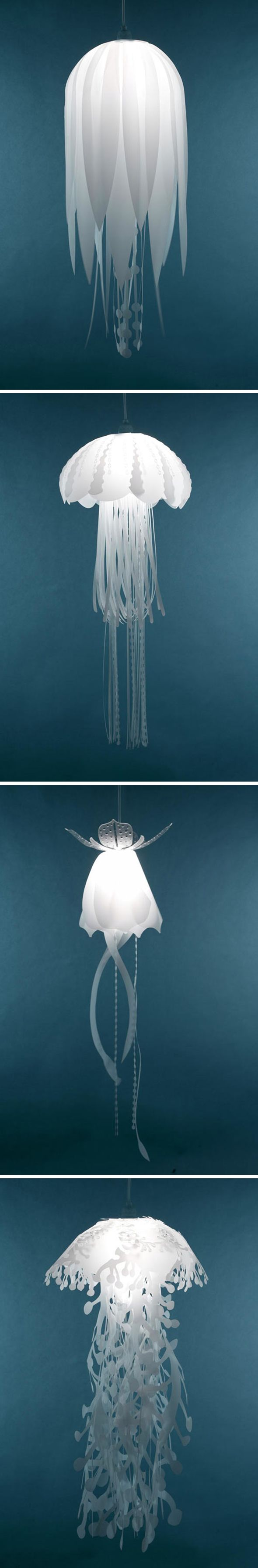 But this looks like a type of Jellyfish to me...Great idea if you could get a lamp to do this-mesmerizing. Lampes-décoratives-Roxy-Russell-2