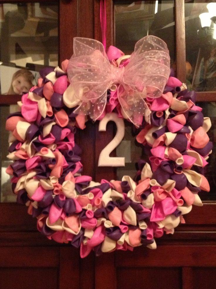 Balloon Wreath For Aubrey S 2 Year Old Minnie S Bowtique