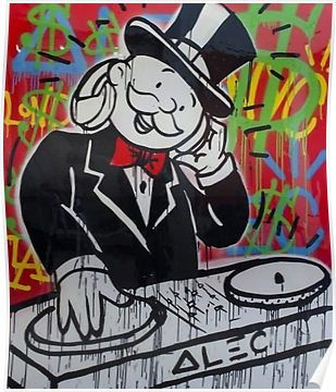 'DJ Rich Uncle Pennybags' Poster by Dwarf Dragon