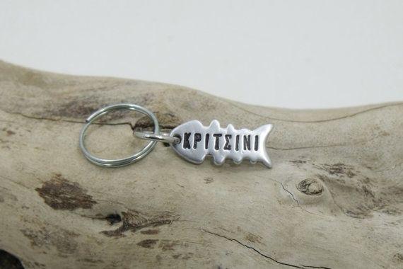 Custom Cat Tag ID Fish bone shape - Pet Tag - Personalized Cat name and phone number - aluminum tag ID.