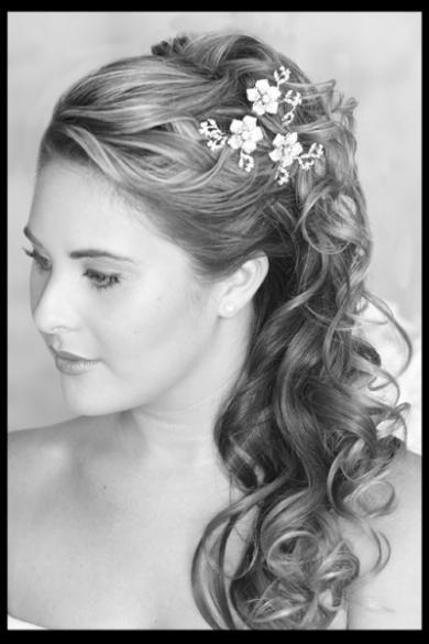 Peinados novias semirecogidos