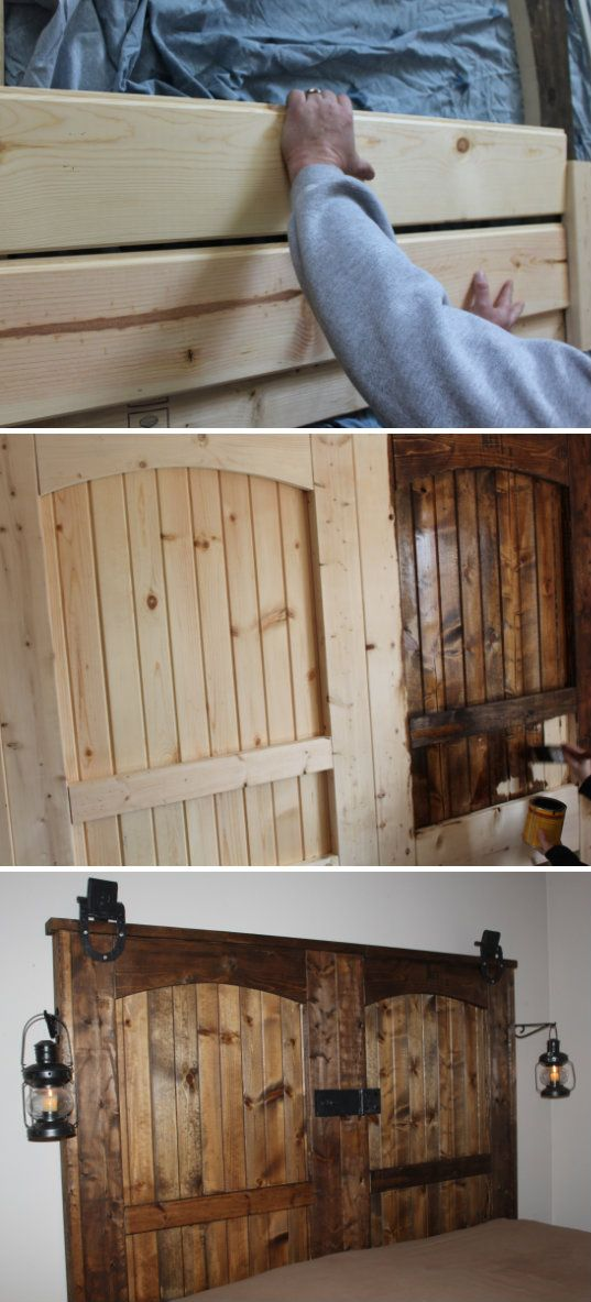 Best 25+ Rustic wood headboard ideas on Pinterest | Diy ...