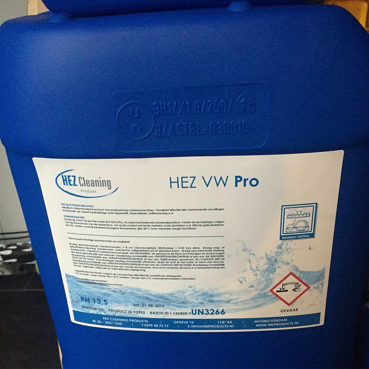 Professioneel vaatwasmiddel 10 en 20 liter met en zonder chloor