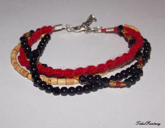 #Multistrand #Bracelet #Beaded #Bracelet Colorful by TidalFantasy