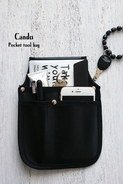 ★キャンドゥ100円!工具バッグをトートバッグのポケットに の画像|インテリアと暮らしのヒント