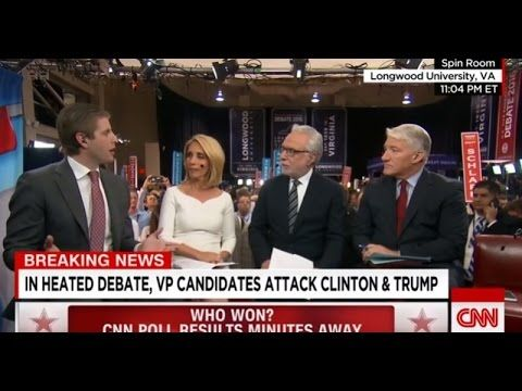 """Eric Trump OWNS CNN Panel After VP Debate Eric Trump OWNS CNN Panel After VP Debate =============================================================== =============================================================== Eric Trump OWNS CNN Panel After VP Debate  #Eric Trump CNN Post Vice Presidential Debate Eric Trump """"Loses His Cool"""" We Have No Assets in Russia in CNN Clash Over Taxes Full interview with Eric Trump Donald Trump's Son.  Eric Trump had a major meltdown on CNN when he was asked after…"""