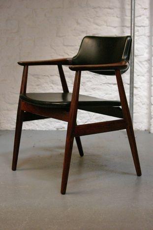 Erik Kirkegaard Rosewood Desk Chair The Chair Affair
