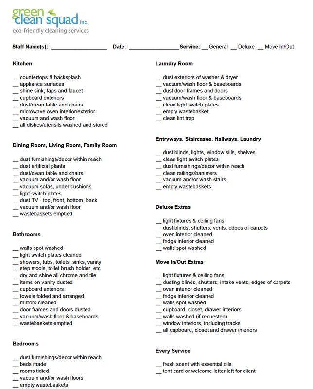 Cleaning Services Checklist Template. Elegant Download The