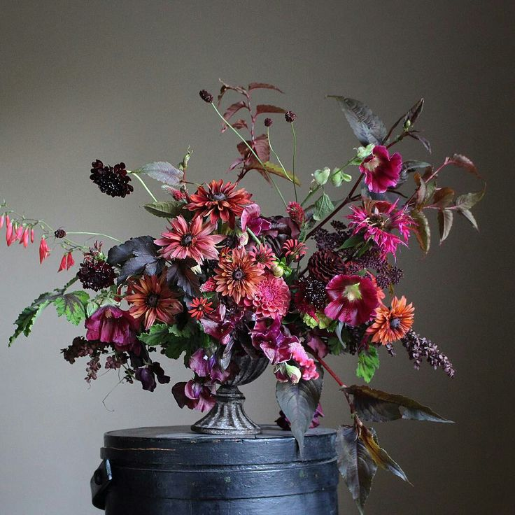 Images of floral arrangements made by Christin