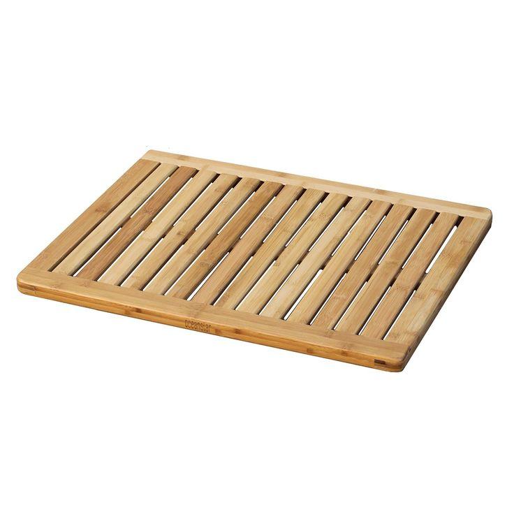 AmazonSmile - Oceanstar FM1163 Bamboo Floor and Shower Mat - Bath Mat