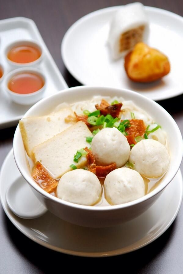 Noodles with Fish Balls from Chef Master Chiuchow Restaurant, Hong Kong
