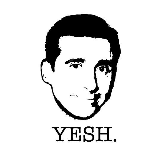 Michael Scott The Office Tv Show Yesh Black White Photographic Print By Starkle In 2021 Office Tv Michael Scott The Office The Office Shirts