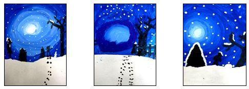 Arts visuels: il neige
