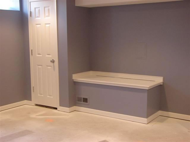Finished basement finished basements finished basement ideas pinterest shelves washer - Finished basement storage ideas ...