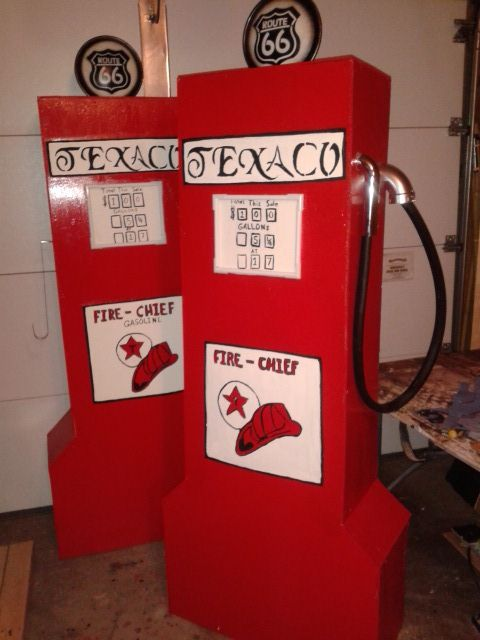 Gas Pump Props Creations By Donna Pinterest Pump And