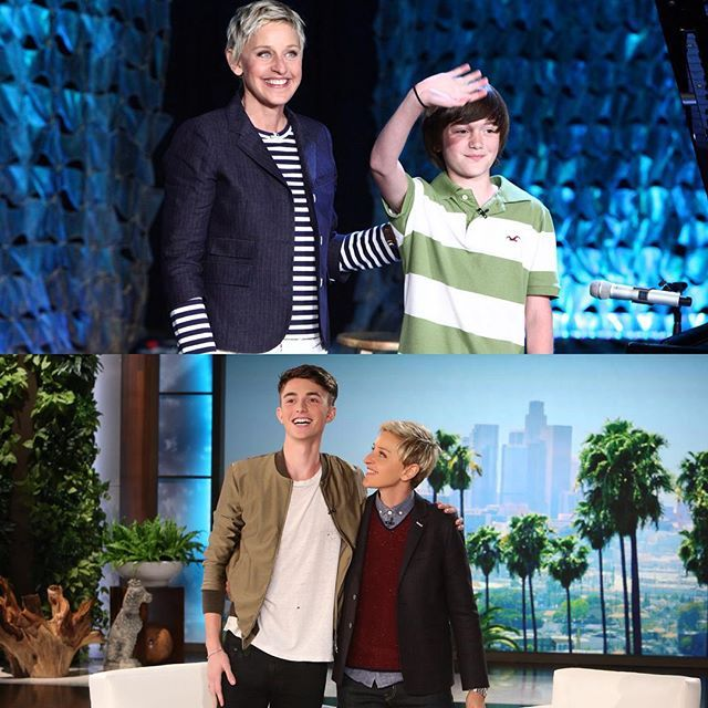 """@theellenshow's photo: """"@GreysonChance is back today, 5 years after his first unforgettable appearance."""""""
