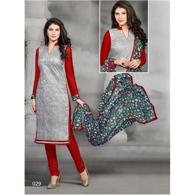 Buy Saiveera Latest arrival Grey and Red Cotton Emboidered Unstiched Casual Salwar Suit/Dress Material by Saiveera Fashion, on Paytm, Price: Rs.899?utm_medium=pintrest Saiveera Fashion Is a Best Manufacturer, Exporter,Wholesaler, As well as Best and dealer,Retailar Of Designer,Embroidery Wedding Sari,Kids Lahenga Choli,Salwar Suit,Dress Material,etc.in surat Textile Market. Also Mainly Focus On Style,Choice,Fabric. For More Query Please Call Or Whatsapp- +91-8469103344