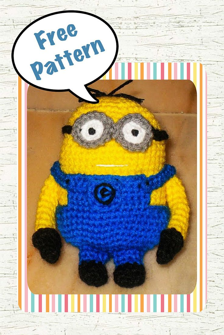 84 best Minions images on Pinterest | Filet crochet, Knit crochet ...