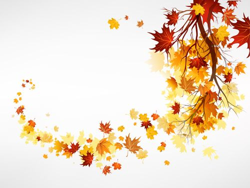 Free EPS file Vector Autumn leaves background graphic 02 download