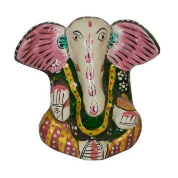 Amazon.com: Hindu God Statue Hand Painted Ganesha Sculpture: Home & Kitchen